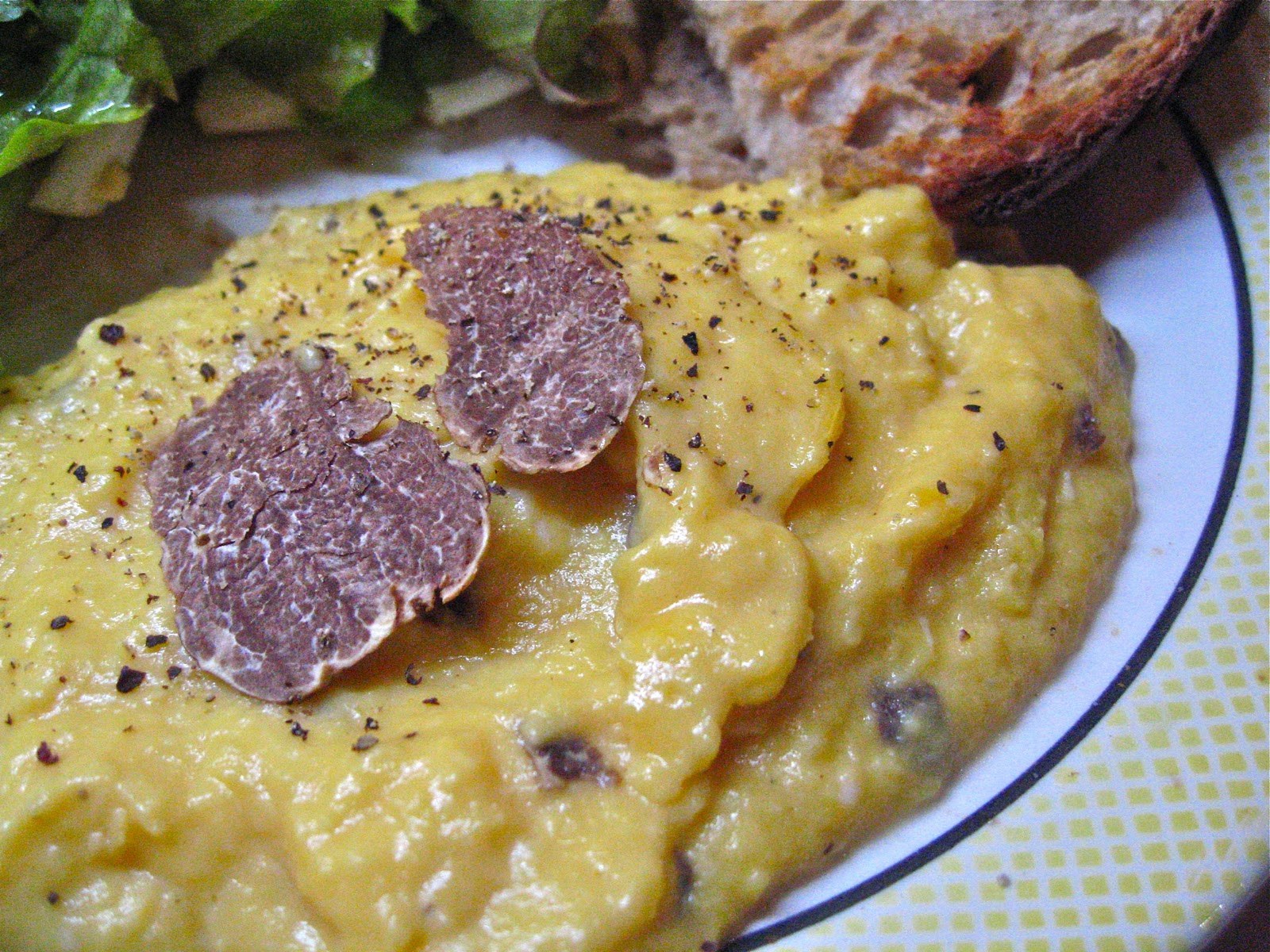 ... truffle scrambled eggs and champagne eggs and truffles have a natural