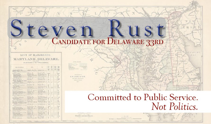 Steve Rust Candidate for DE 33rd