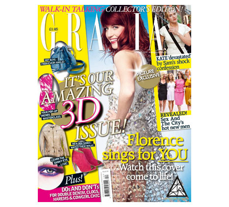 Grazia magazine with the Augmented Reality technology