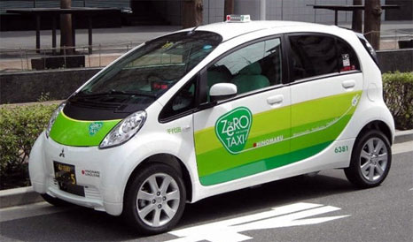 ZERO Taxi: Taxi with using Mitsubishi i-MiEV in japan