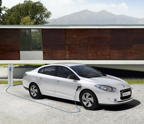 Renault fluency: electric car battery can be swap