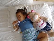 Our Sleeping Thai Princess (and Bunny)