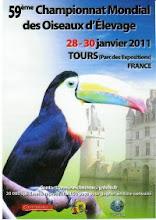 59ºCAMPEONATO MUNDIAL DE ORNITOLOGIA EM FRANÇA 2011 - TOURS