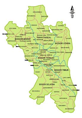 Peta Wilayah Bogor Terbaru