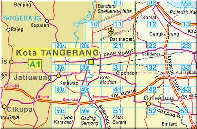Peta Kota Tangerang