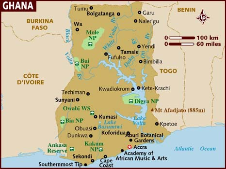Map Of Ghana With Regions. because i#39;m gone-a!