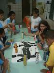 Alunos da Escola Municipal Vila Sésamo em Maio de 2010( Construção de Maquete)