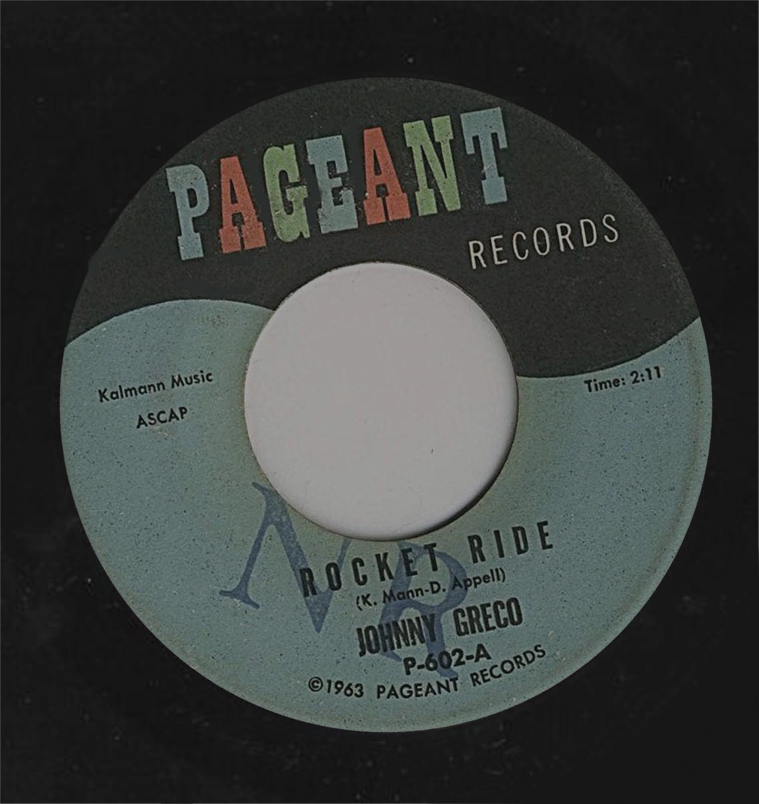 Ride for pageant records a subsidiary label of cameo parkway records