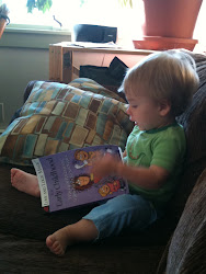 Garrett reading about Parenting with Love and Logic back when I started this blog