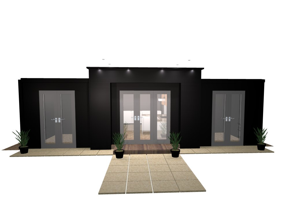 Mark hanner kitchen designer the showroom is getting for Extension container