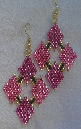 Brick Stitch Earrings Video, Part I - Instructions - YouTube