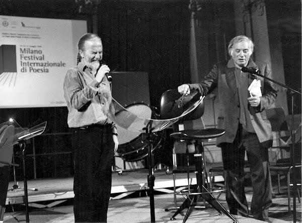 Tomaso Kemeny con Endre Szkàrosi alla Casa della Poesia nel 2005