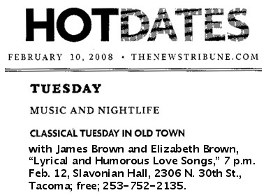 News Tribune Hot Dates