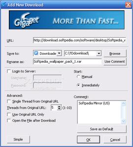 Gigaget Download Manager - Lebih dari cepat? 1