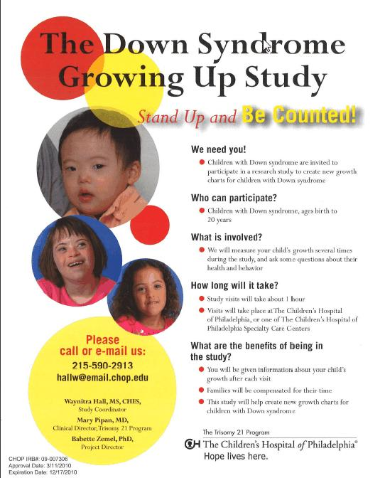 Rejenerations Down Syndrome Growth Charts New Study