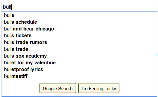 Google Suggest 1
