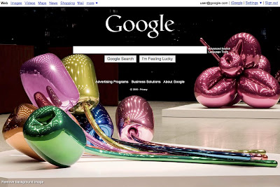 customized google.com home page screenshot
