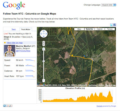 Google Map for Tour de France