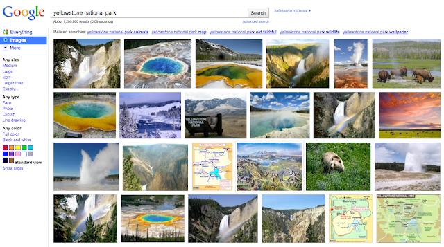 Google Bildsuche: Gekachelte Bild-Ansicht