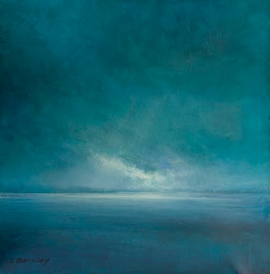 modern oil seascape by artist Colin Barclay of Long Point, Newfoundland