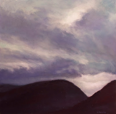 landscape painting by artist Colin Barclay of mountains near Gros Morne, Newfoundland