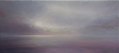 oil painting by artist Colin Barclay of calm morning sea near Twillingate