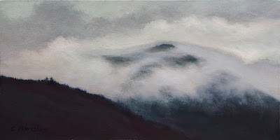 oil painting of foggy afternoon on Gros Morne,Newfoundland by artist Colin Barclay