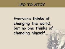 TOLSTOY SAY,