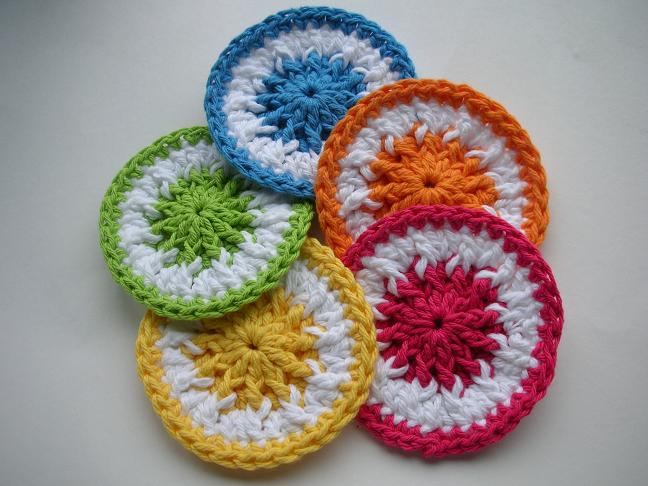 Crocheting Scrubbies : Download Crochet Patterns, Flower Face Scrubbies Free Crochet