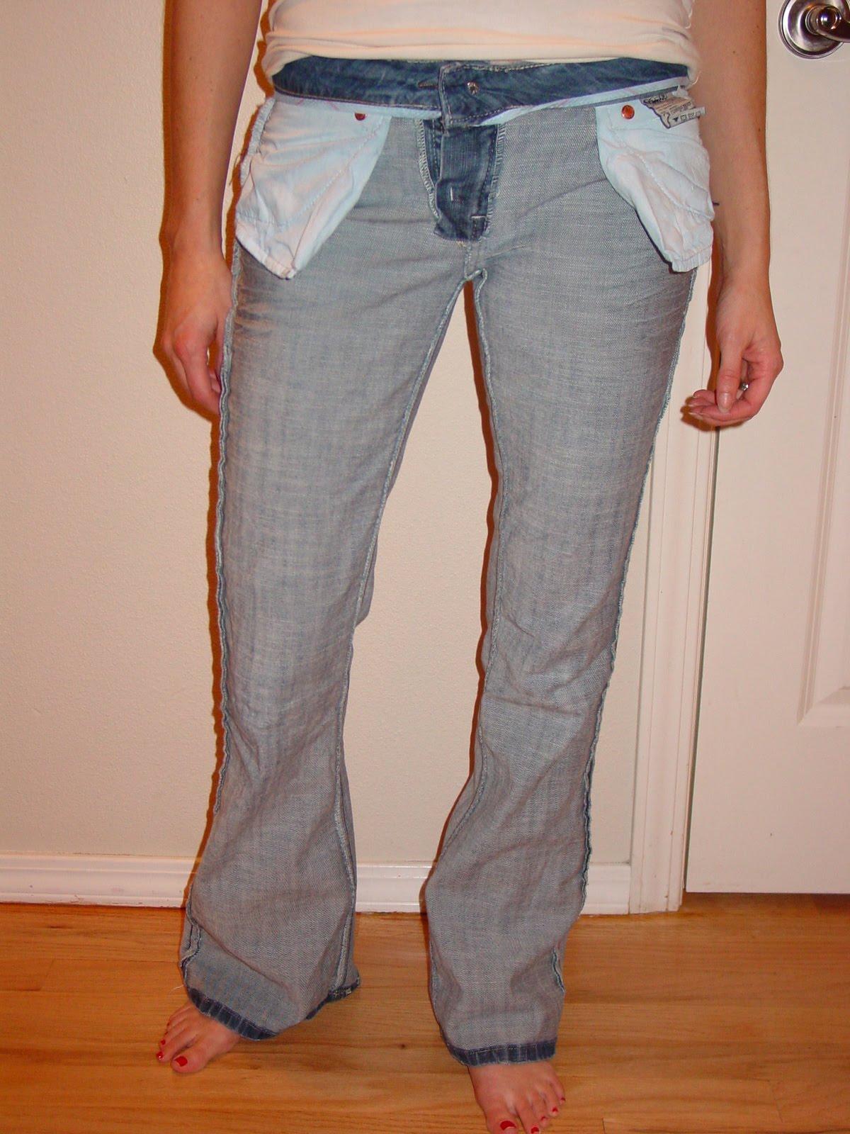 Растянуть джинсы в домашних условиях 31