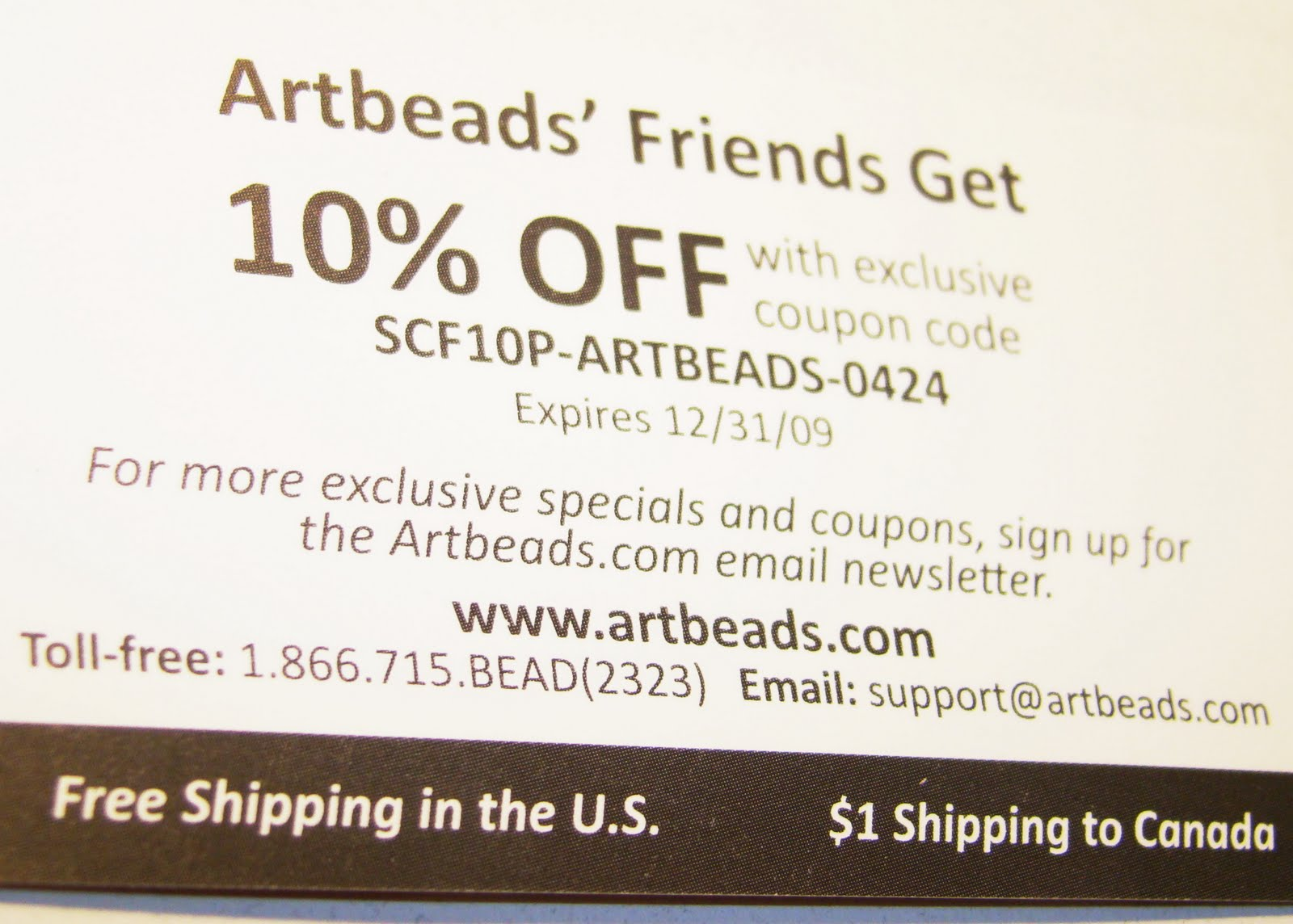 Artbeads coupon code
