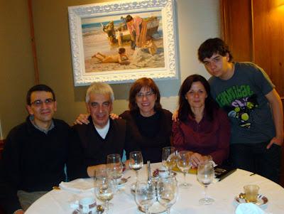 Lluís, Josep, Glòria, Cristina i Lluís jr. al restaurant El Gastrónomo