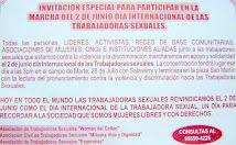 DIA INTERNACIONAL DE LAS TRABAJADORAS SEXUALES