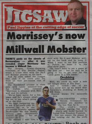 morrissey, mozzer, millwall