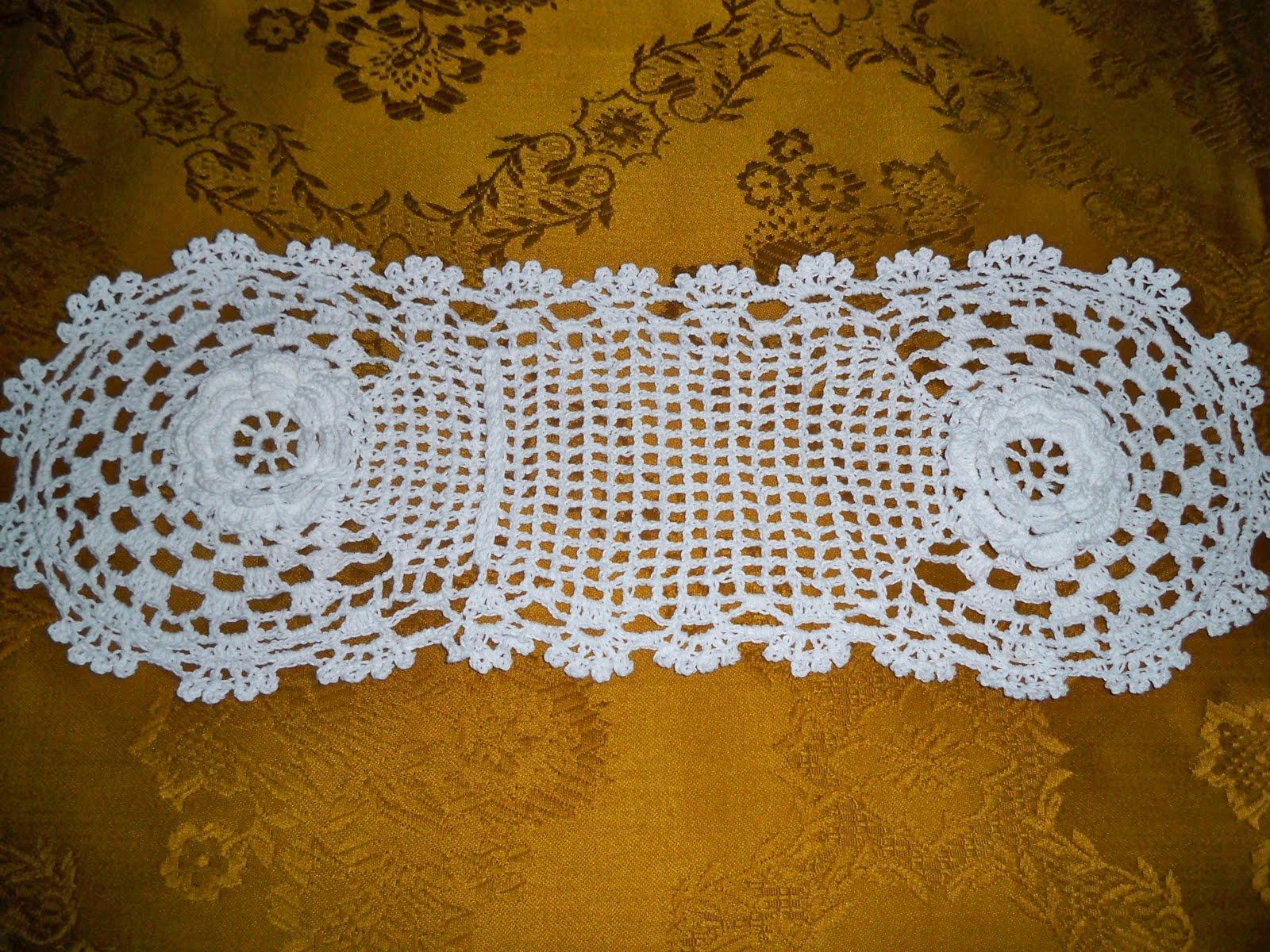 Juegos De Baño A Crochet Con Patrones:CARMEN FELICIDAD: Juego de Baño con motivos de rosas en crochet