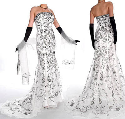 Black and White Evening Gown 4