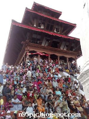 devotees attending the festival