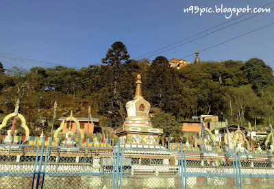 swayambhunath hillock,swayambhu in hill,green forest in swyambhu