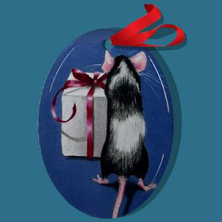 Black and White Mice Christmas