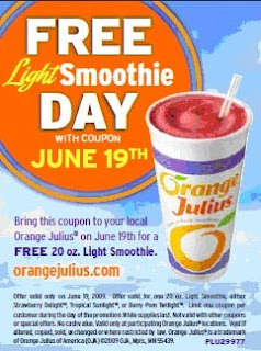 Orange Julius Smoothie Coupon