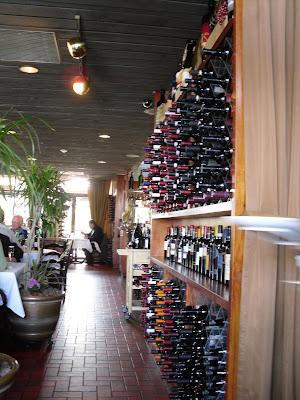 Wine Rack at La Piazza Dario Ristorante.!