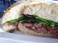 Skirt Steak Sandwich, The Cannery Restaurant, Port of Vancouver, BC
