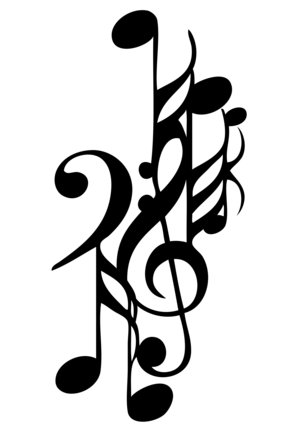 music note tattoos As musicians are artistic individuals, they tend toward