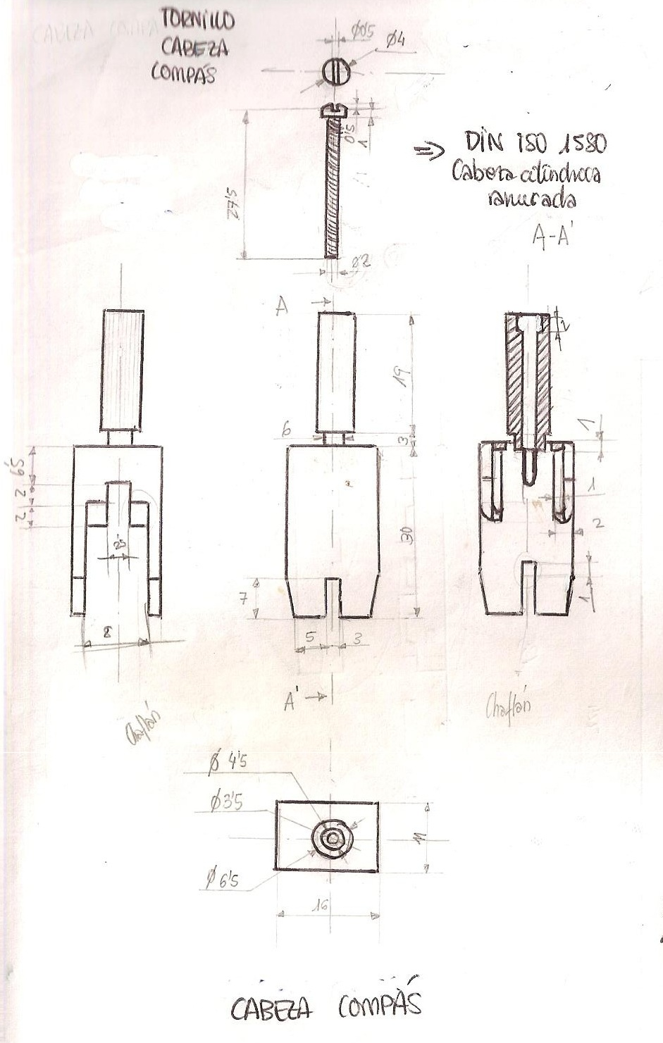 maletin de dise o planos de las piezas realizadas por laura
