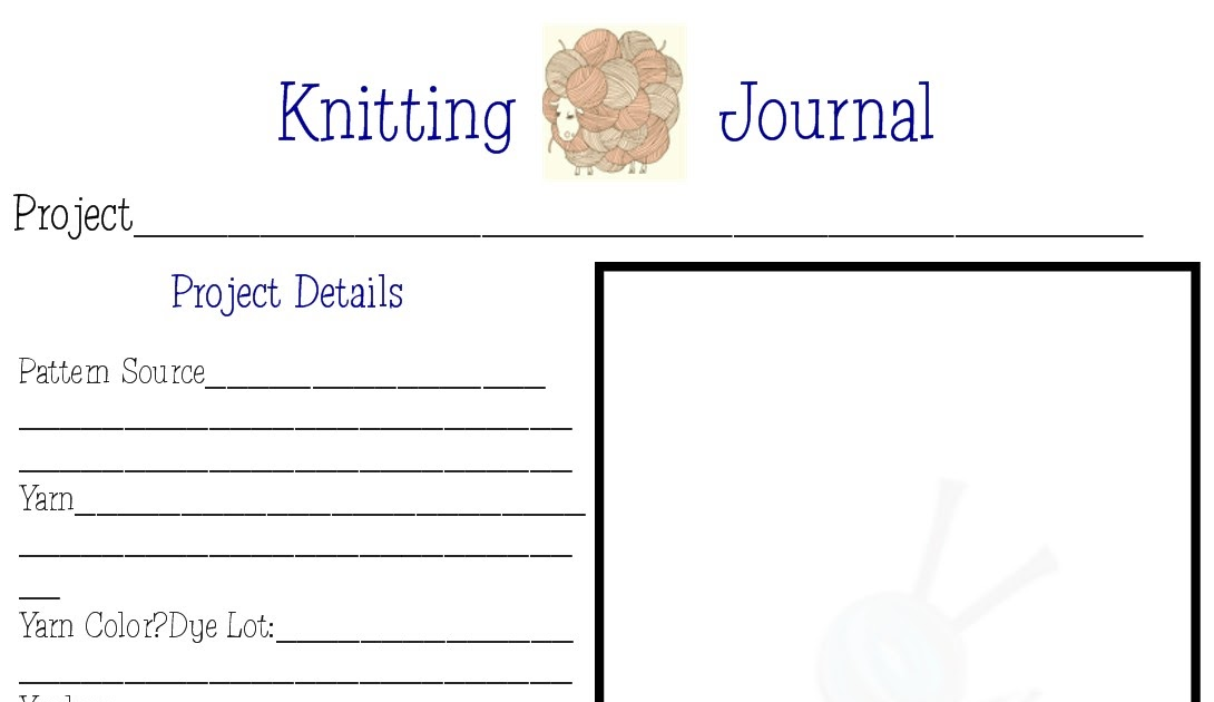 Knitting Journal Pdf : Patt s creations madness knitting journal pages