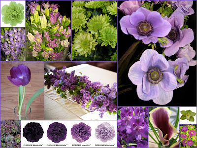 Purple and Green Wedding Flowers are 2010 Trend