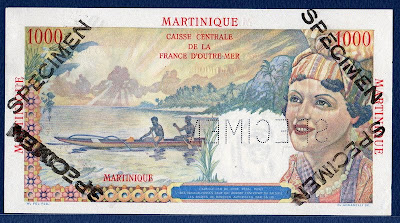 1000 Francs Martinique  banknote