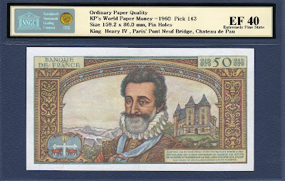 banknote 50 French Nouveaux Francs