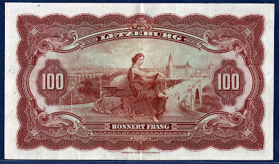 Luxembourg paper money currency