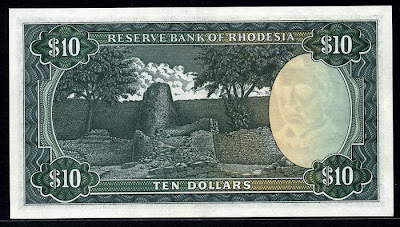 Rhodesian dollar money 10 Dollars